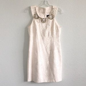 Laundry by Shelly Segal  Ivory Cocktail Dress